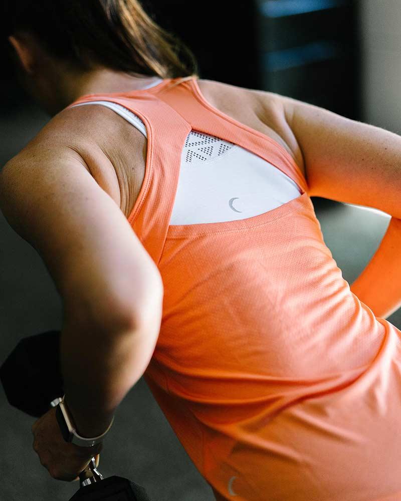 zyia workout tanktop orange