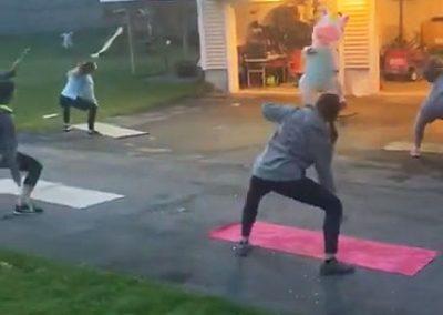 susan lambert teaching pound rockout workout